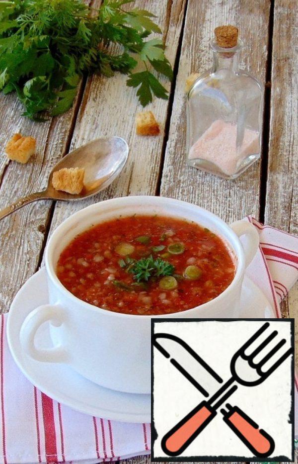 Cold Tomato Buckwheat Soup Recipe