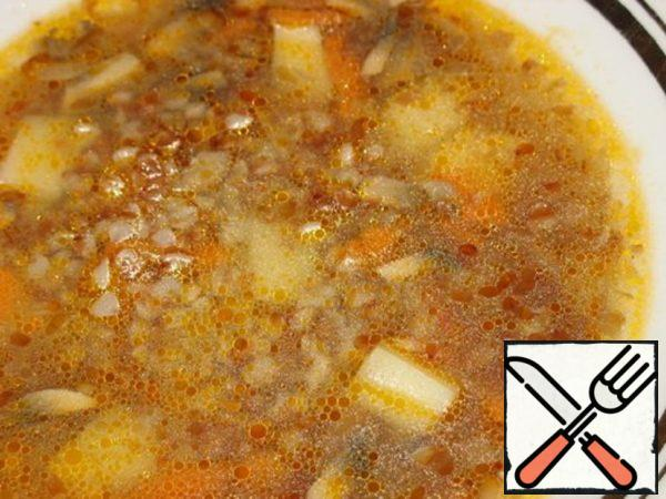 Buckwheat Soup with Champignons Recipe