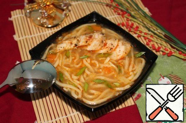 Chicken Soup with Egg Noodles Recipe