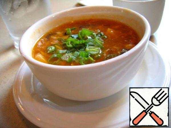 Sour Soup on Chicken Broth Recipe