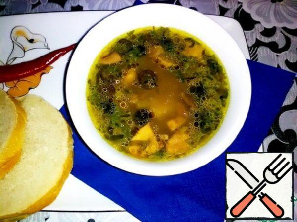Lenten Pea Soup with Mushrooms Recipe