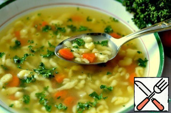 """Soup on Chicken Broth """" For Adults"""" Recipe"""