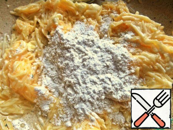 Put a little bit of flour.