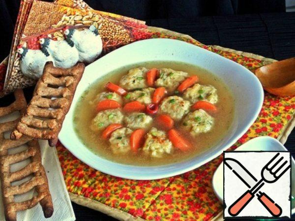 Chicken Broth with Cheese Bombs Recipe