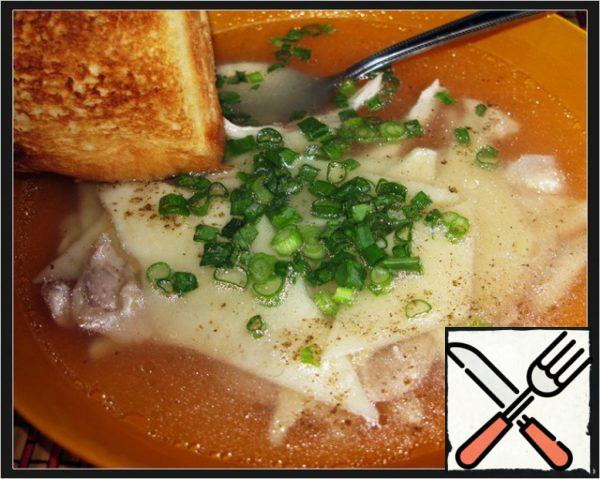 Serve broth with herbs, lasagna, croutons or toast.