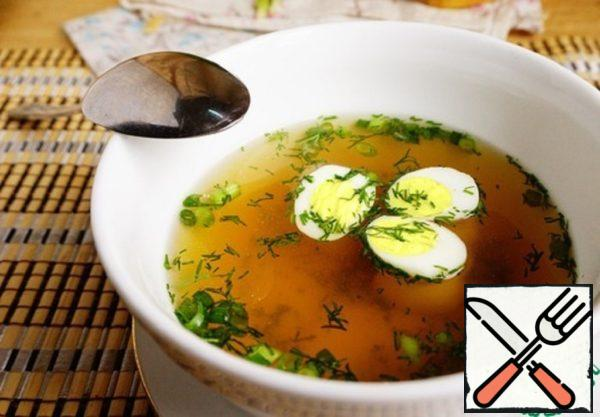 Basic Chicken Broth with Quail Eggs Recipe