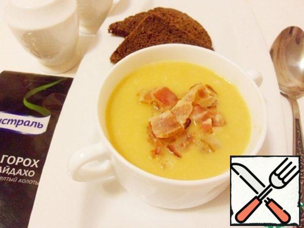 Pea Puree Soup with Chorizo Recipe