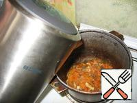 Pour in hot water. Bring to boil.