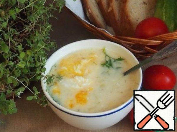 White Soup with Poached Egg Recipe