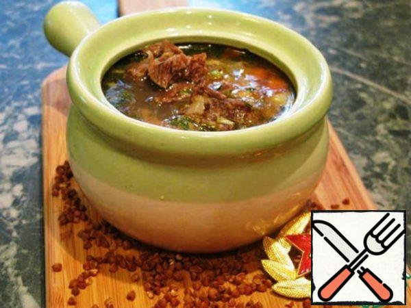 Buckwheat Soup with Veal Recipe
