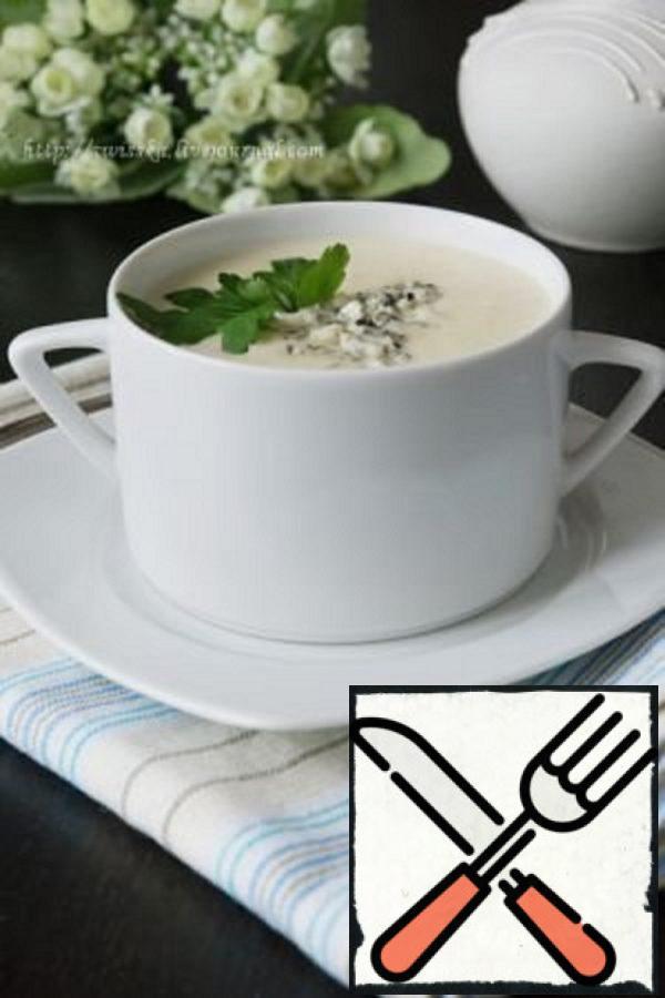 Potato Cream Soup with blue Cheese Recipe