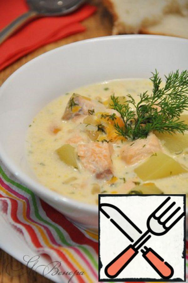 Cheese Fish Soup Recipe