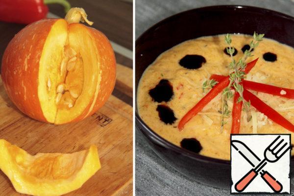 Pumpkin Cream Soup with Pepper Recipe