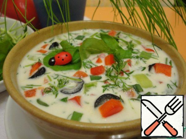 Gazpacho with Milk Recipe