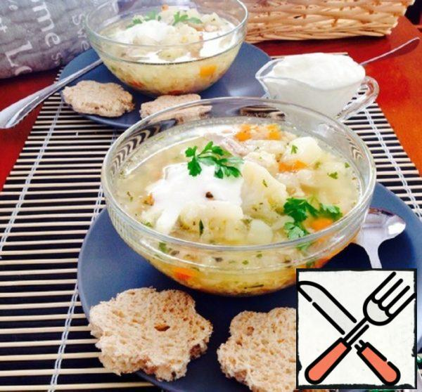 Chicken Soup with Cauliflower Recipe