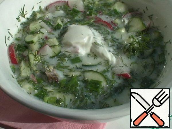 "Okroshka ""Barbecue"" with Mustard Recipe"