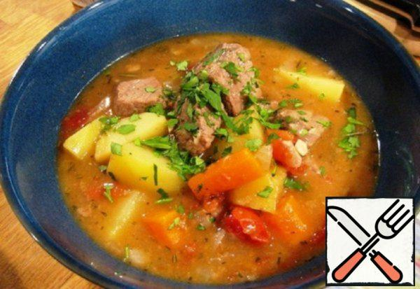 Soup with Beef Ribs Recipe