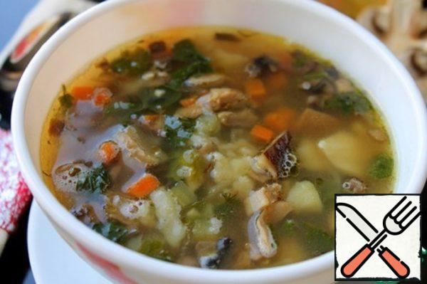 Spicy Mushroom Soup Recipe