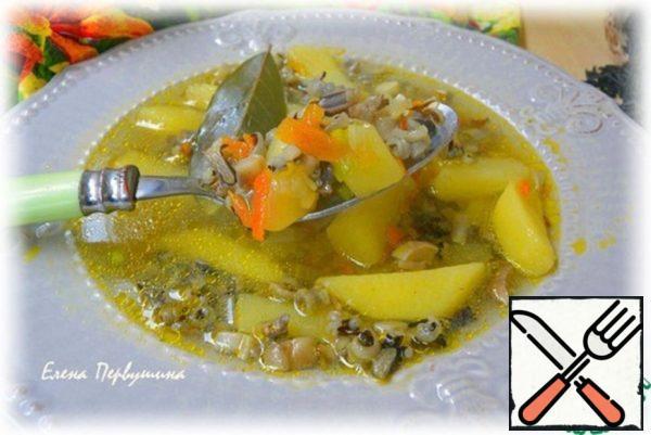 Mushroom Soup with Black Rice Recipe