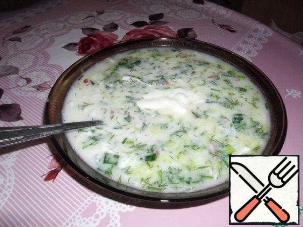 Okroshka on Yogurt and Mineral Water Recipe