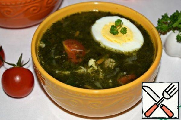 "Chicken Soup with Spinach ""Excellent"" Recipe"