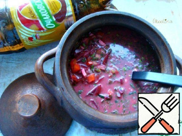 Okroshka on Kvass with Beetroot Recipe