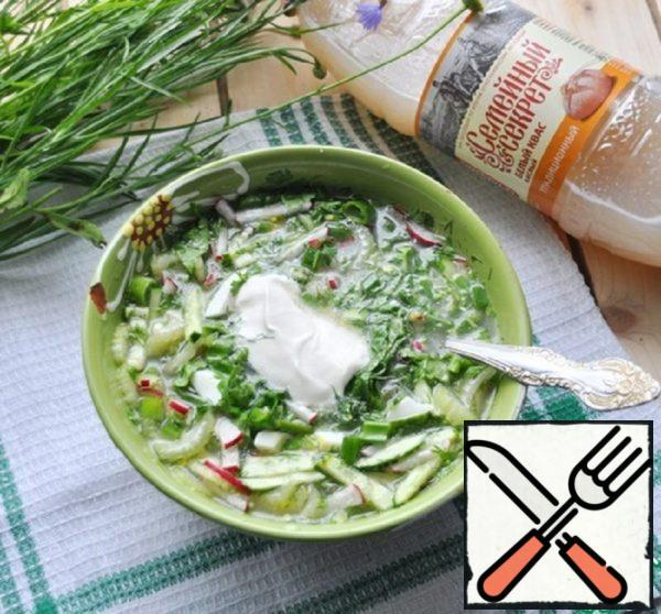 Green Okroshka Recipe