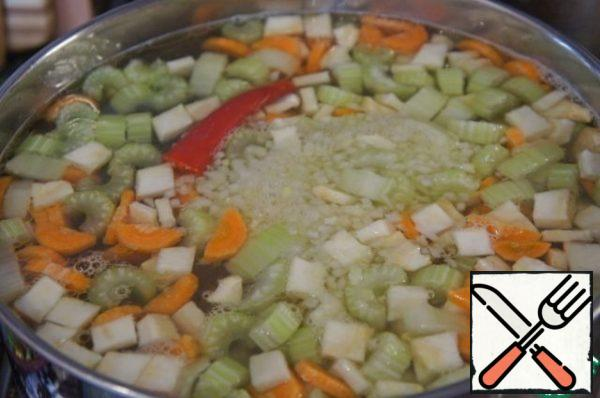 Cook over medium heat until tender, about 40 minutes.