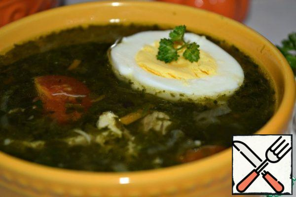 Serve soup with boiled egg.