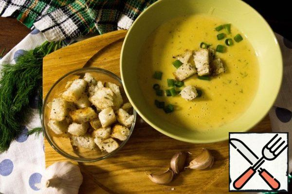 Cream soup is ready.
