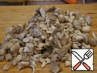 Fresh mushrooms to clear, wash and cut into slices, or defrost.