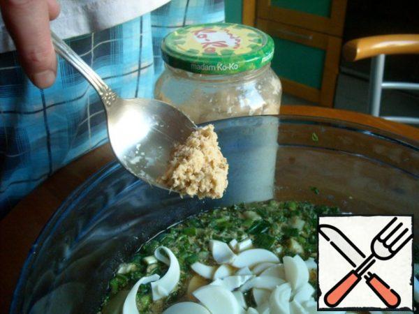 Add horseradish.