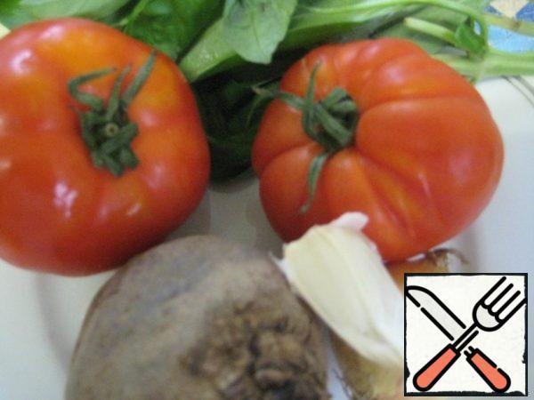 Vegetables wash, peel.