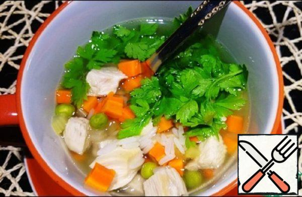 Rice and Vegetable Chicken Soup Recipe