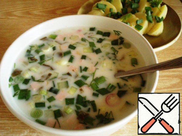 Okroshka with Sorrel on Yogurt Recipe