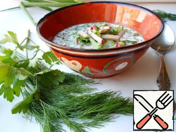 Okroshka in Uzbek (Chalop) Recipe