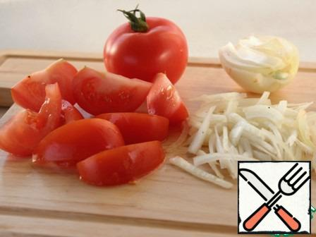 Tomatoes and onions.