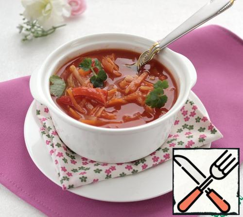 The soup is ready.