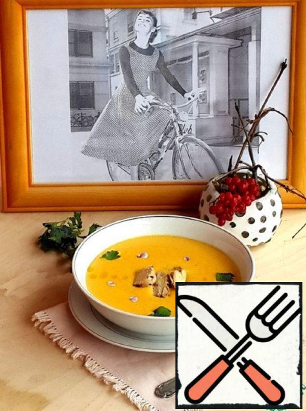 Celery and Pumpkin Puree Soup Recipe