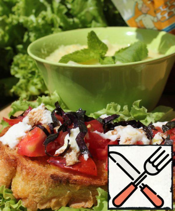 """Mediterranean Lunch """"Bruschetta & Gazpacho"""" Recipe"""