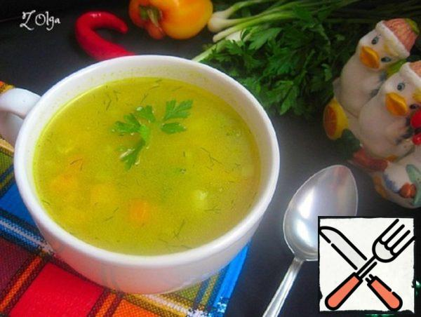 Vegetable Soup with Oat Flakes Recipe