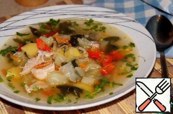 Vegetable Soup with Spinach Recipe