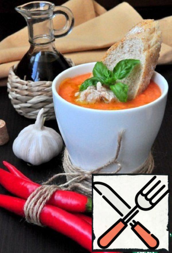 Gazpacho with Codfish Liver Recipe