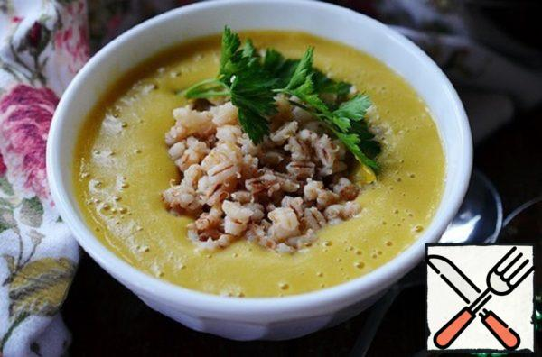 Vegetable Soup-Puree with Roasted Pearl Barley Recipe