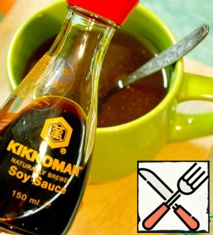 To prepare the brine: the taste of diluted soy sauce and vinegar in boiled water.