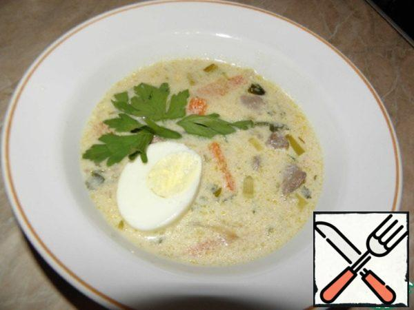 Creamy Soup made from Beef Liver Recipe