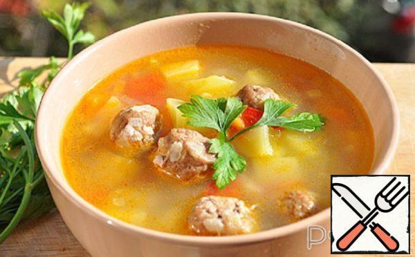 Potato Soup with Meatballs Recipe