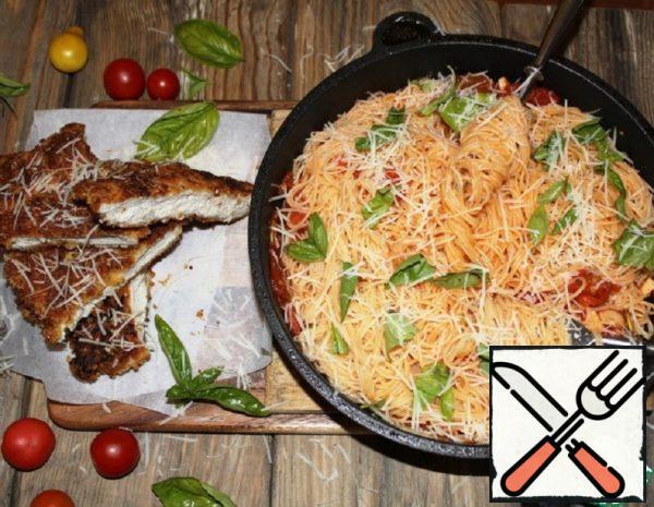 Chicken Milanese with Spaghetti Recipe