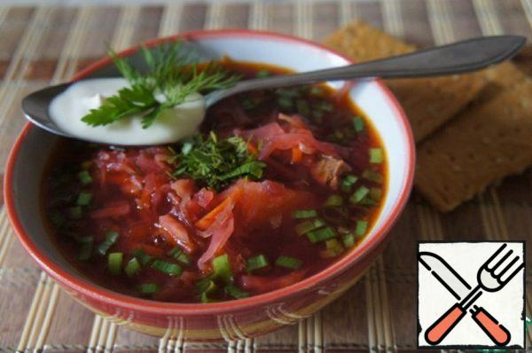 Borscht with Fresh Tomatoes Recipe