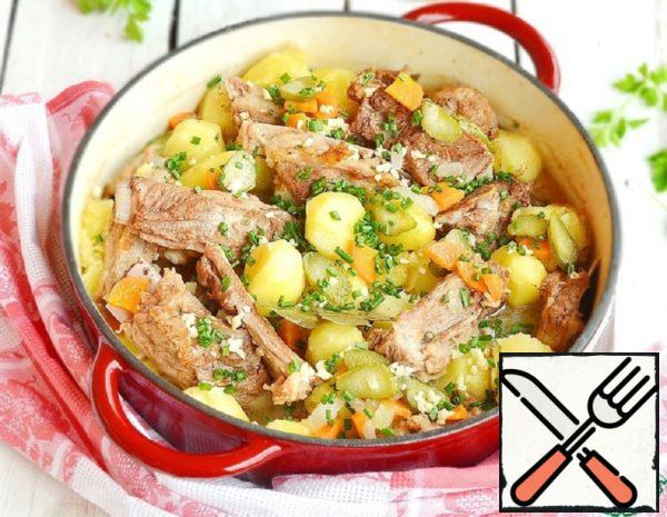 Homemade Roast with Ribs and Potatoes Recipe